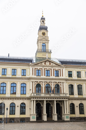 The city hall of Riga in the Baltic Country
