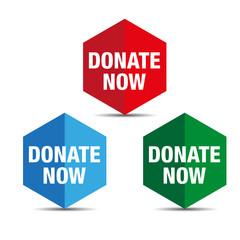 Donate button set