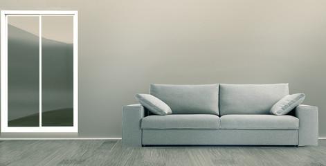 Interior con sofá