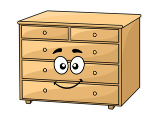 Cartoon wooden chest of drawers