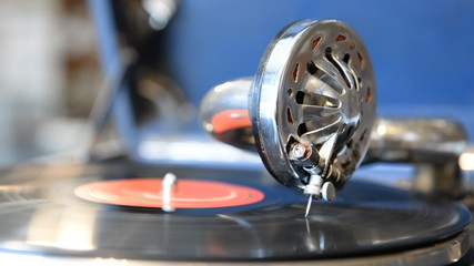 Playing on the old gramophone records
