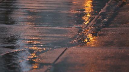 Urban Sidewalk, Heavy Rain