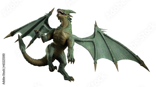 Large Green Dragon - turning