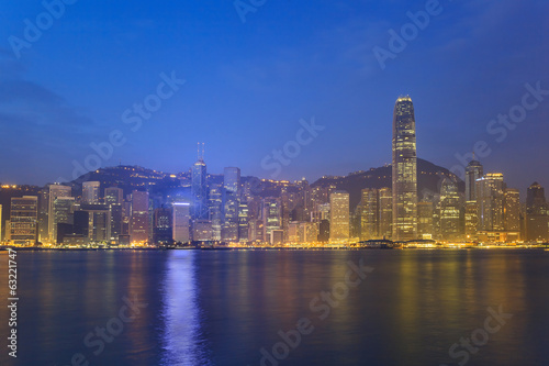 Hong Kong city skyline view from Kowloon