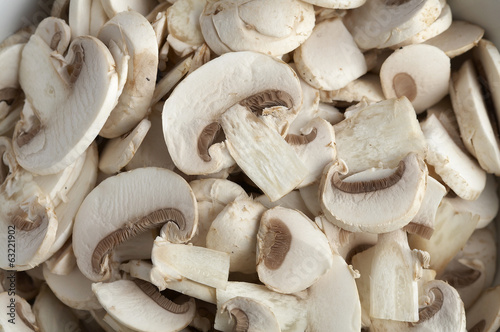 background from sliced mushroom in sunlight
