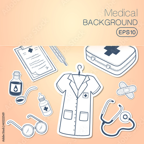 Medical background.