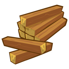 wood planks isolated illustration