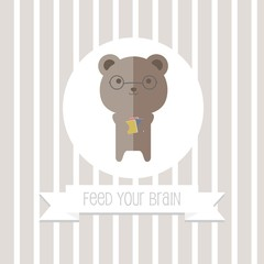 Bookworm Bear, Feed Your Brain