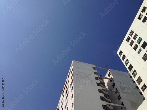building in blue sky
