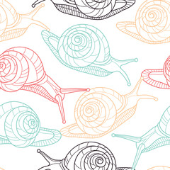 Snails seamless pattern