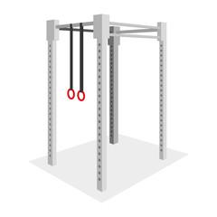 Gymnastics Element Illustration Isolated On White Background