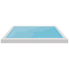 Pool Illustration Isolated On White Background