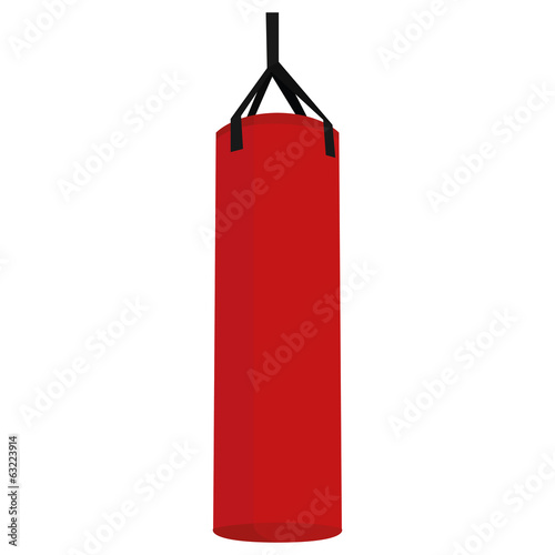 Punching Bag Illustration Isolated On White Background