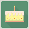 Birthday cake icon with shadow
