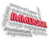 Immersion 3D Word Background Total Involvement Captivation poster