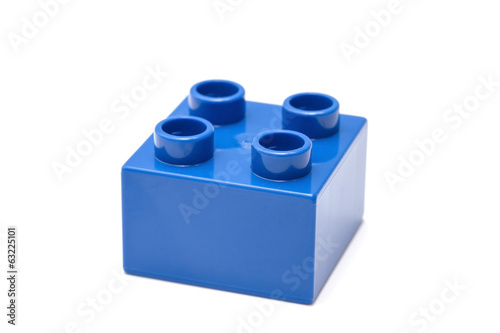 blue building block