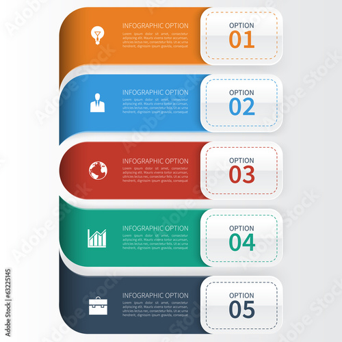 Modern Business  Infographics Options Template