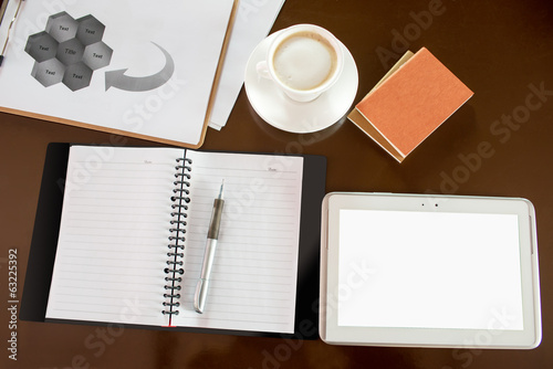 Coffee and Tablet PC