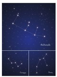 Constellations Cassiopeja,Perseus, and Andromeda poster