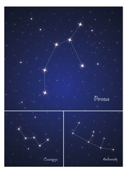 Constellations Cassiopeja,Perseus, and Andromeda