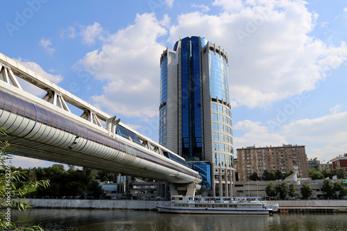 Footbridge Bagration at the Moscow City Business Centre