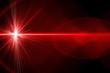 Leinwanddruck Bild - Red laser light