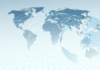 Global communicational channels background