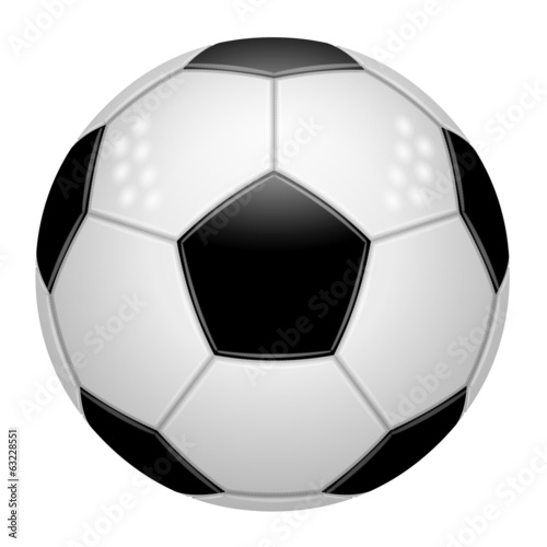 Ballon de football blanc et noir