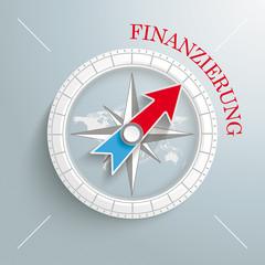 Compass Silver Background Finanzierung