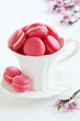 Makarons - with strawberry cream.