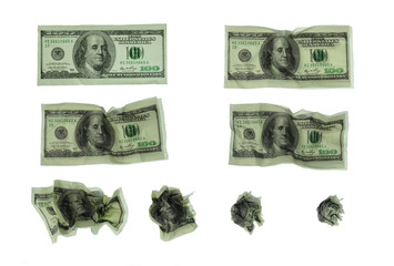 Dollar wastepaper sequence set