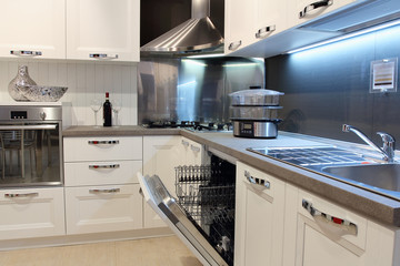 Detail of a modern kitchen