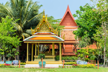 Thailand pavilion in King Rama 2 Memorial Park,Samutsongkhram Pr