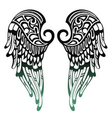 Angel wings.Tattoo design
