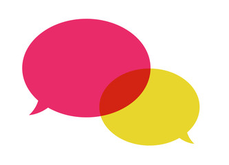 The pair of speech bubbles