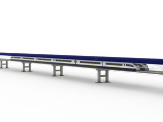 Magnetic levitation train with solar panels #7