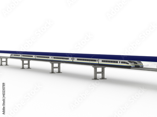 Magnetic levitation train with solar panels #7
