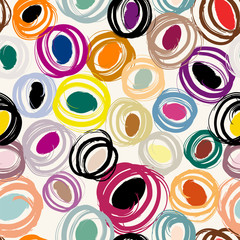 seamless pattern, with circles and strokes