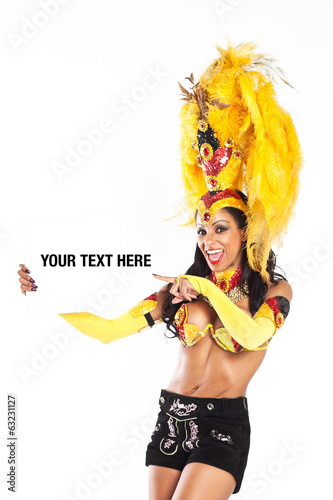 "Brazilian Samba Dancer wearing a ""lederhose"""