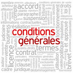 """""""CONDITIONS GENERALES"""" (vente contrat termes utilisation droits)"""