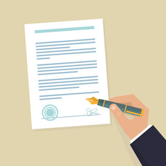 Vector agreement icon