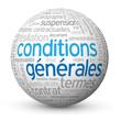 """Globe - Nuage de Tags """"CONDITIONS GENERALES"""" (utilisation vente)"""