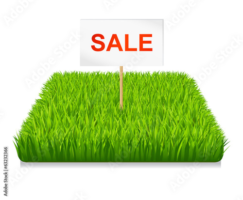 Sale. Green grass