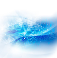 Abstract futuristic flow background for technology or science co