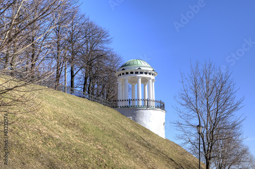"""Temple of Love"" - Rotunda on quay of Volga and Korostel river."