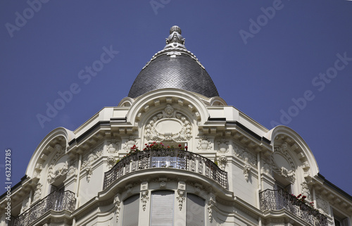 Facade of building in Nice. France