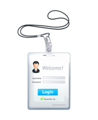 Log in form vertical, vector illustration