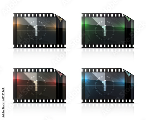 Film strip, vector set