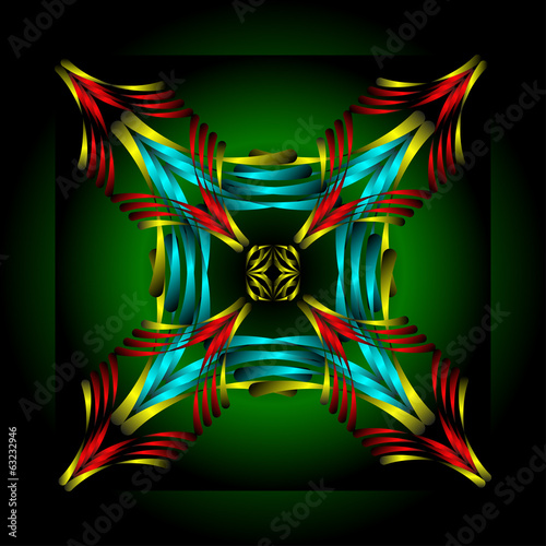 abstract colorful figure