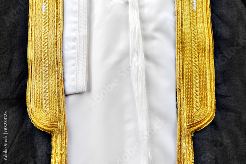 A bisht is a traditional Arabic men's piece of clothes